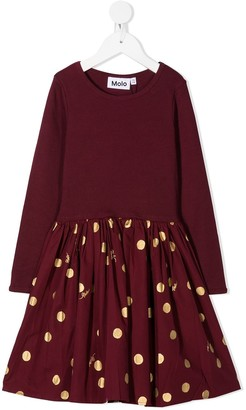 Molo Polka-Dot Flared Dress