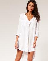ASOS Shirt Dress with Dipped Hem