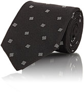 Ralph Lauren Purple Label Men's Square-Pattern Cady Necktie-BLACK