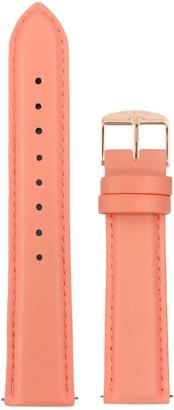 Hurtig Lane Coral & Rose Gold Vegan Leather Strap 20Mm
