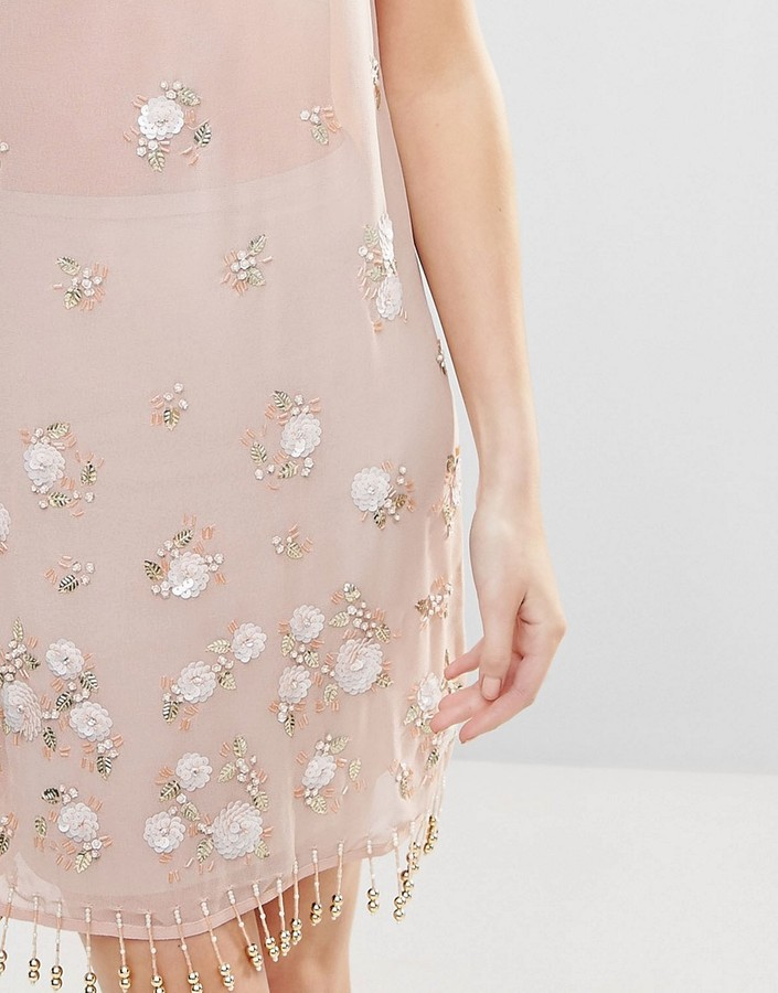 Glamorous Beaded Mini Dress