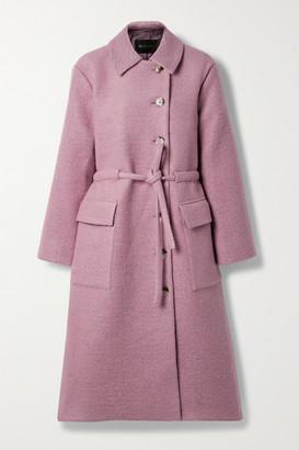 Stine Goya Margret Belted Wool-blend Coat - Baby pink