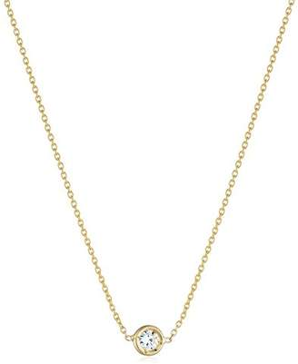 "Roberto Coin Tiny Treasures"" Single Station Bezel Set Diamond Pendant Necklace"