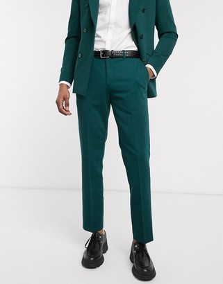 Lockstock Mayfair suit pant in forest green