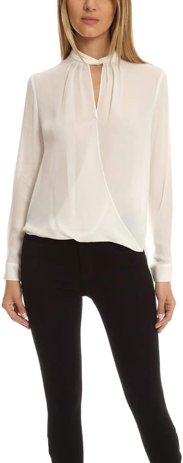 L'Agence Kendra Knot Coll Blouse