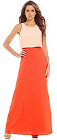 Gianni Bini Zetta Two Tone Popover Maxi Dress