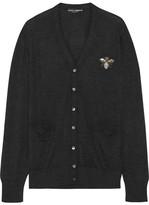 Dolce & Gabbana Embellished Cashmere Cardigan - Black
