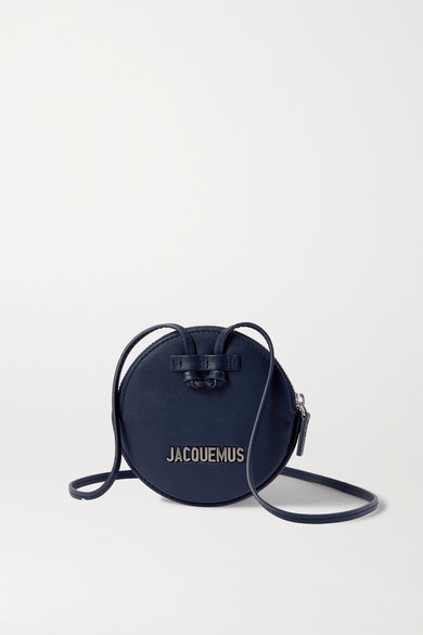 Jacquemus Le Pitchou Mini Textured-leather Pouch - Navy