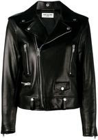 Saint Laurent classic leather biker jacket - women - Lamb Skin - 34