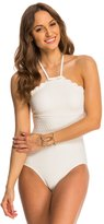 Kate Spade Marina Piccola Scalloped High Neck One Piece Swimsuit 8142858