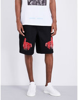Off-white C/o Virgil Abloh Scorpion-embroidered Jersey Shorts