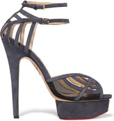 Charlotte Olympia Octavia cutout suede platform sandals