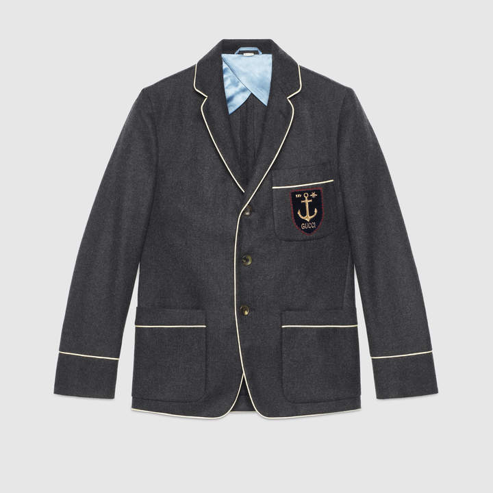 Gucci Embroidered cashmere jacket