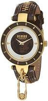 Versus By Versace Women's 'KEY BISCAYNE II' Quartz Stainless Steel and Leather Casual Watch, Color:Beige (Model: SCK080016)