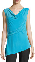 T Tahari Aspen Sleeveless Asymmetric Top, Cobalt