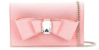 Casadei Bow Crystal Shoulder Bag