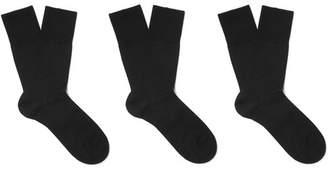 Falke Three-Pack Airport Virgin Wool-Blend Socks