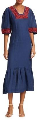 Sea Leah Embroidered Midi Dress