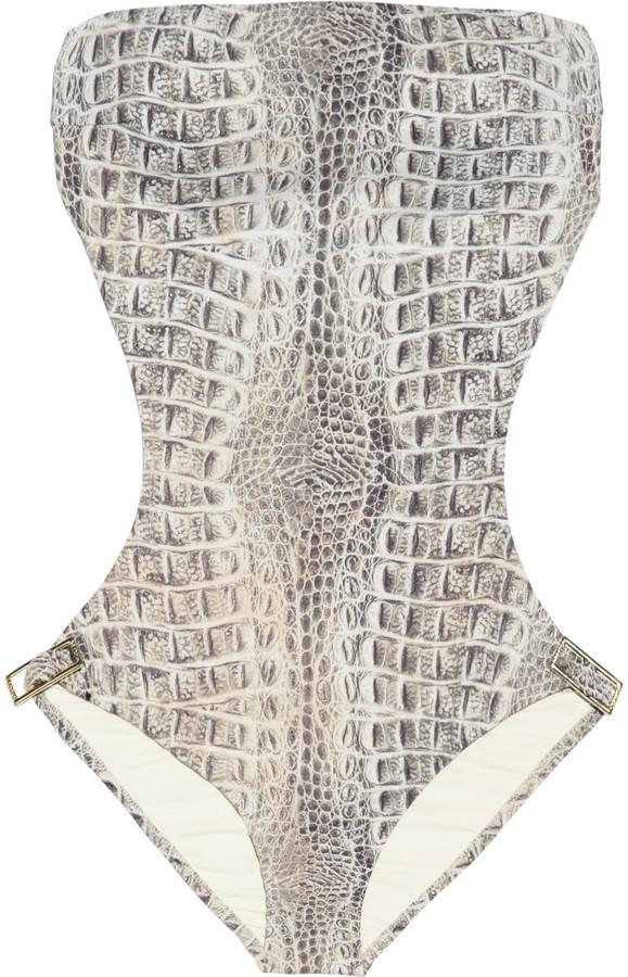 Melissa Odabash Geneva cutout printed swimsuit
