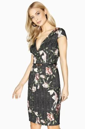 Paper Dolls Yvette Jacquard Mock Wrap Dress