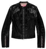 Blumarine Embellished Leather Jacket