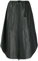 Bottega Veneta Zipped Leather Midi Skirt