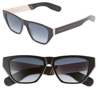 Christian Dior Insidout2s 54mm Flat Top Sunglasses