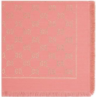 Gucci Kids GG motif lamé shawl