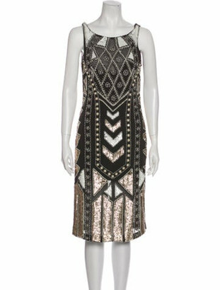Needle & Thread Printed Knee-Length Dress Grey