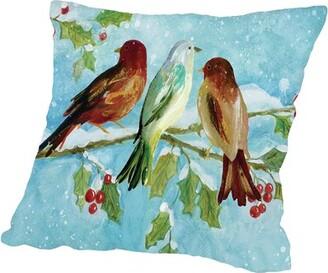 "Ramona Throw Pillow Cover Charlton Home Size: 14"" H x 14"" W x 2"" D"