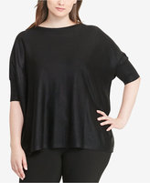 Lauren Ralph Lauren Plus Size Foil-Print Boat Neck Sweater