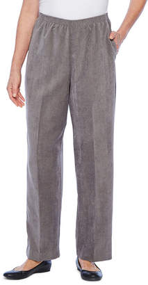 Alfred Dunner Classics Womens Straight Corduroy Pant