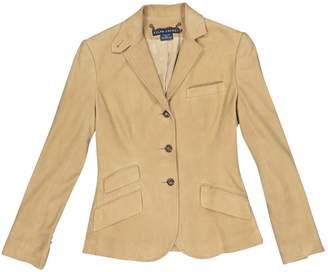 Ralph Lauren Beige Leather Jackets