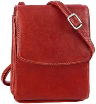 Derek Alexander Small Flap Leather Crossbody Bag