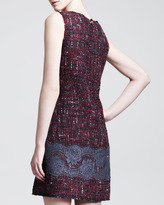 Dolce & Gabbana Lace-Embroidered Tweed Shift Dress