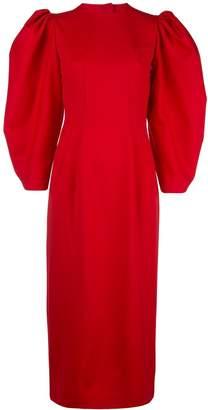 Sara Battaglia open-back midi dress