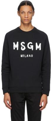 MSGM Black Artist Logo Sweatshirt