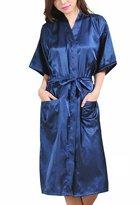Geval Womens's Comfort Kimono Robe Long Sleepewear Nightshirts(,S)