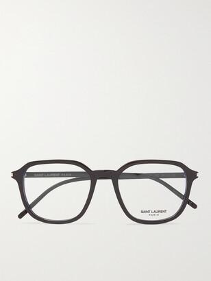 Saint Laurent Round-Frame Acetate Optical Glasses - Men - Black