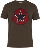 Moncler Felt-logo cotton T-shirt