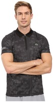 Lacoste T1 Short Sleeve Printed Ultra Dry w/ Zipper Placket