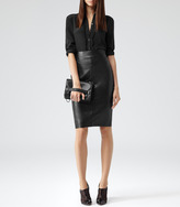 Reiss Shannon LEATHER PENCIL SKIRT
