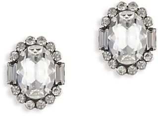 Dannijo Dima Swarovski Crystal Oval Stud Earrings