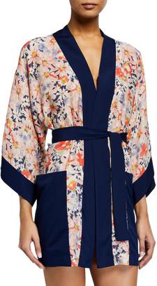 Shan Kyoto Floral-Print Kimono Coverup