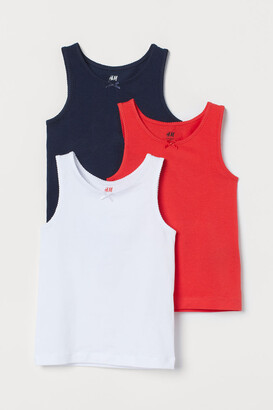 H&M 3-pack Tank Tops - Red