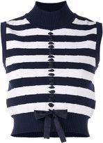 Fendi striped cropped sweater vest - women - Polyamide/Polyester/Polyurethane/Viscose - 42