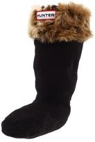 Hunter Leopard Cuff Welly Sock FA11 (Black Leopard) Girls Shoes