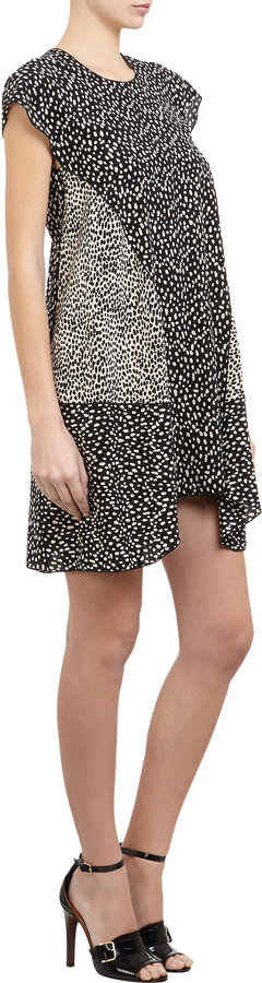 Derek Lam Ocelot Print Cap Sleeve Dress
