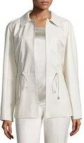 Lafayette 148 New York Dalia Drawstring Leather Jacket
