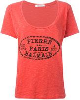 Pierre Balmain logo print T-shirt - women - Cotton - 34